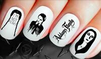 Gothic Nail Decals Wednesday Addams Nail Art Wraps Water Transfers Nails 269