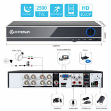 Defeway 4ch DVR 720p CCTV Surveillance Home Security Video Recorder With 1tb HDD