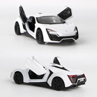 Fast&Furious Lykan Alloy Car Model Pull Back Toy Car 2 Electronic Metal Car 1:36