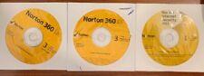 Norton Security Disc-1 2011 Internet Security/2 360 Verision 5.0 No instructions