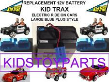 NEW! OEM REPLACEMENT KID TRAX 12 VOLT CHARGEABLE BATTERY w/ LG BLUE PLUG