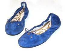 "Sam Edelman ""Felicia"" Blue Suede Ballet Flats w Bow and Charm / size 7.5"