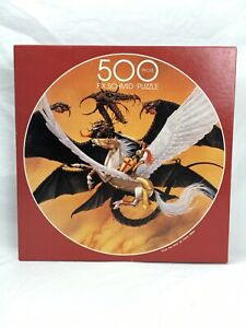 """F.X. Schmid 1995 Puzzle 500 Piece THE FINAL  20.5"""" Circle DRAGON BRAND NEW"""