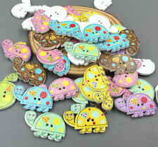 50pcs little turtle Wooden Sewing buttons scrapbooking decoration 28mm