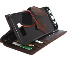 genuine leather Case for Samsung Galaxy S8 Plus id Window Magnetic Cards slots