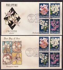 Philippines 1962 Flowers Orchids Mariposa Perforate and Imperf on 2 FDC
