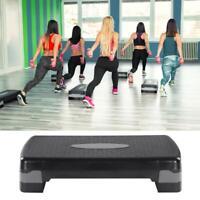Fitness Aerobic Step 27'' Club Cardio Adjust Exercise Stepper w/Risers 4'' - 8''