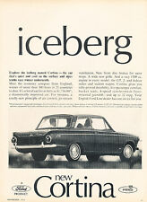 1965 1966 Ford Cortina GT - iceberg - Original Advertisement Car Print Ad J304