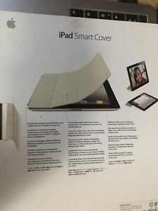 Genuine Retail Boxed Apple iPad 2 3 & 4 Cream Folding Smart Cover MC952ZM/A UK