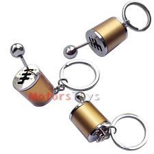 1PC Golden Chrome Finish Gear Box Shifter Key Chain Fob Ring Keychain For Car