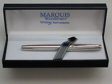 Waterford Marquis Claria Rhodium Rollerball Pen, New In Box