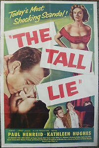 "TALL LIE One sheet US Original Film Movie Poster Paul Henreid 27""x41"" 1952 VF+"