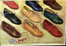 xOriginal Vintage Shoe Advert Joyce Ladies & Gents Fashion Bond St London 1940's