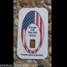 1/3 GRAM PURE 999+ GOLD BULLION PROFESSIONALLY MINTED CERTIFIED LTD FLAG BAR !
