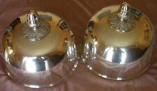 Paire cloches couvre plat métal argenté ( plaqué argent ) Empire / Restauration