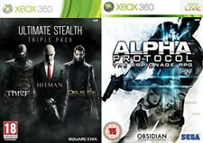 ultimate stealth triple - thief+hitman+deus ex & alpha protocol    Xbox 360  PAL