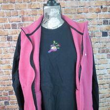 2 Piece Set Port Authority Fleece Vest Gildan T Shirt Size XL Pink Black