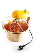 Faitout en cuivre 28 cm avec bras mélangeur ✿ Marmite à polenta ✿ 12 portions