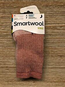 Smartwool Womens Hike Merino Wool Crew Socks - Pink Heather - Small