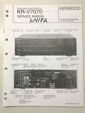KENWOOD KR-V7070 A V SURROUND RECEIVER ORIGINAL SERVICE REPAIR MANUAL