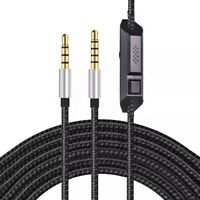 Black Stork 3.5mm Audio Cable Headset Mute Volume Control Astro A10 A40 A30 A50