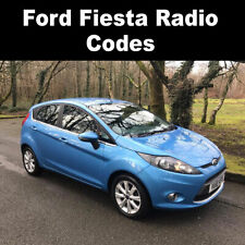Ford Fiesta Radio Code Stereo Codes Pin Car Fast Service 6000cd, 4500 RDS