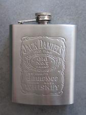 Flasque à whiskey en métal brossé 175 ml avec logo Jack Daniel/'s Neuf