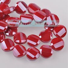 10/20pcs 14mm Glass Crystal Jewelry Findings Faceted Loose Spacer Beads Craft