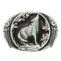8x6cm Belt Buckle Classical Cowboy Wolf Belt Buckle Gifts For Men Women