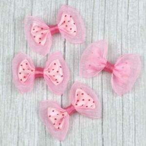 Wholesale 50/100 Small Bows Satin Ribbon Flowers Sewing Appliques Craft Supplies