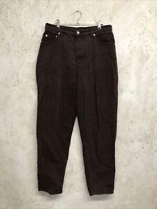 Vintage St Michael Rich Brown Trousers Size 14ST
