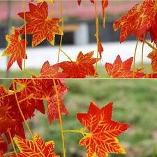 2.3m Artificial Red Maple Leaf Garlands Plant Vine Fake Foliage Flowers Decor WK