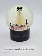 New VICTORIA SECRET 2019 HOLIDAY Snow Globe Christmas Sparkle Glitter Pink Black