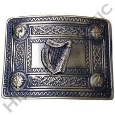 Men's Celtic Kilt Belt Buckle Irish harp Antique Finish/Kilt Belt Buckle Celtic