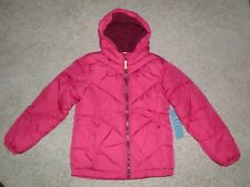 Girls Old Navy Pink Frost-Free Hooded Puffer Coat Size XL(14) NEW!