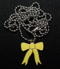 YELLOW RIBBON NECKLACE CHARM PIN UP US ARMY MARINES NAVY AIR FORCE PATRIOT GIFT