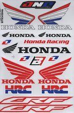 1x Racing Honda Wing Stickers Sheet Emblem Motorcycle Racing ATV Bike Race H04