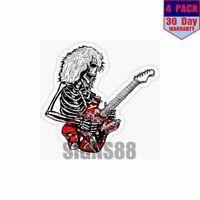 Dead E Van Halen 4 pack 4x4 Inch Sticker Decal