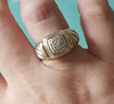 David Yurman Noblesse Pave Diamond Ring with 18k Gold