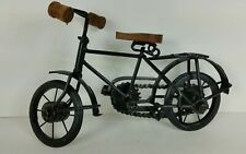 Rustic Mini Bicycle Decor Vintage Style Wood And Metal Bike Steampunk