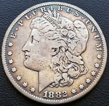 1882 USA Silver Morgan Dollar - 90% Silver - Beautiful Toning
