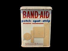 Vintage Band-Aid Box Metal Box Johnson & Johnson Strip, Patch & Spot #A