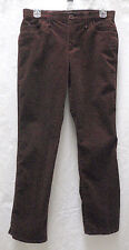Women's Petite TRIBAL Brown Corduroy Stretch Jeans Mid-Rise Straight Leg 4P