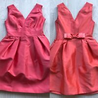 COAST SCULPTURAL COCKTAIL/PARTY DRESS CORAL PINK UK 10 AE