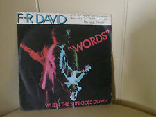 VINYLE 45 T F-R DAVID WORDS