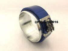 "Blue Aluminum Pegasus Clamshell 3"" 3.0"" Flange Clamp Tube Pipe Connector 3 inch"
