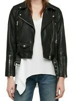 ALLSAINTS | WOMENS BLACK LEATHER JACKET | JUNO | AU 6 | RRP $600 | NEW WITH TAGS