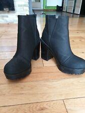 Gothic/ Punk Black Wedges Heels Size 5 H&M