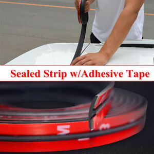 2M Car SUV Roof Trunk Seal Strip Self-adhesive Rubber Protector Panel Seal Strip