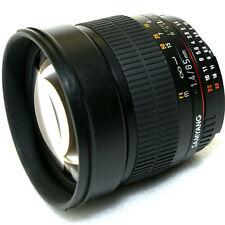 85mm f/1.4 Samyang AS IF UMC II (Rokinon/Bower) AE MF Nikon FX F-Mount Lens Mint